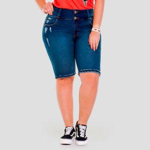 Short Truccos Mujer 2271 Tallas Grandes Azul Medio Agaval